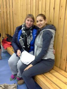Kuvassa lajipäällikkö Emma Kurki ja Maria Gateva Bulgariasta