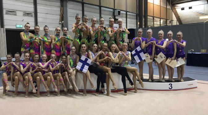 Elise – Vantaan nuorten joukkueen Pohjoismaiden mestaruuskisojen pronssi yhteistyön tulos